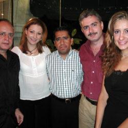 Luis Nunes, Marcela Jimenez, Jorge Franco, Francisco Herrero y Lourdes Cota